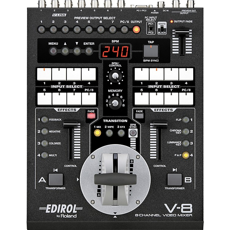 Roland V-8 8-Channel Video Mixer with Effects