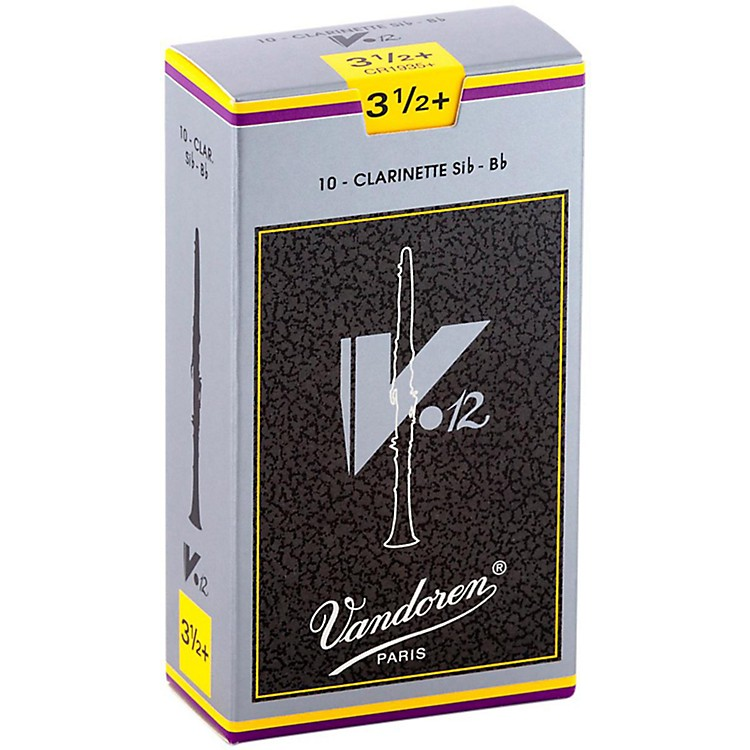 Vandoren V12 Bb Clarinet Reeds Strength 4.5 Box of 10