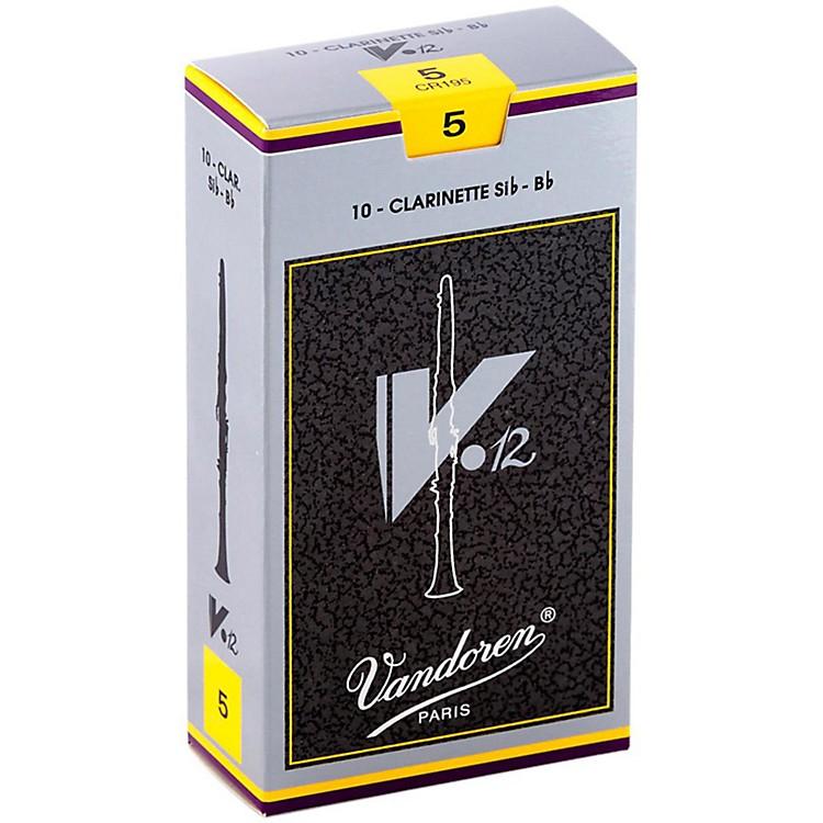 VandorenV12 Bb Clarinet ReedsStrength 5Box of 10