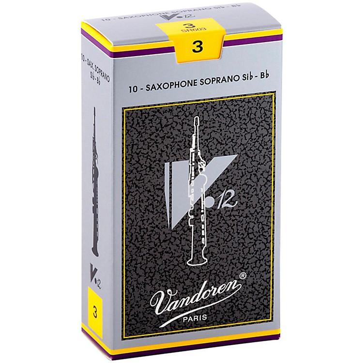 VandorenV12 Series Soprano Saxophone ReedsStrength 3, Box of 10