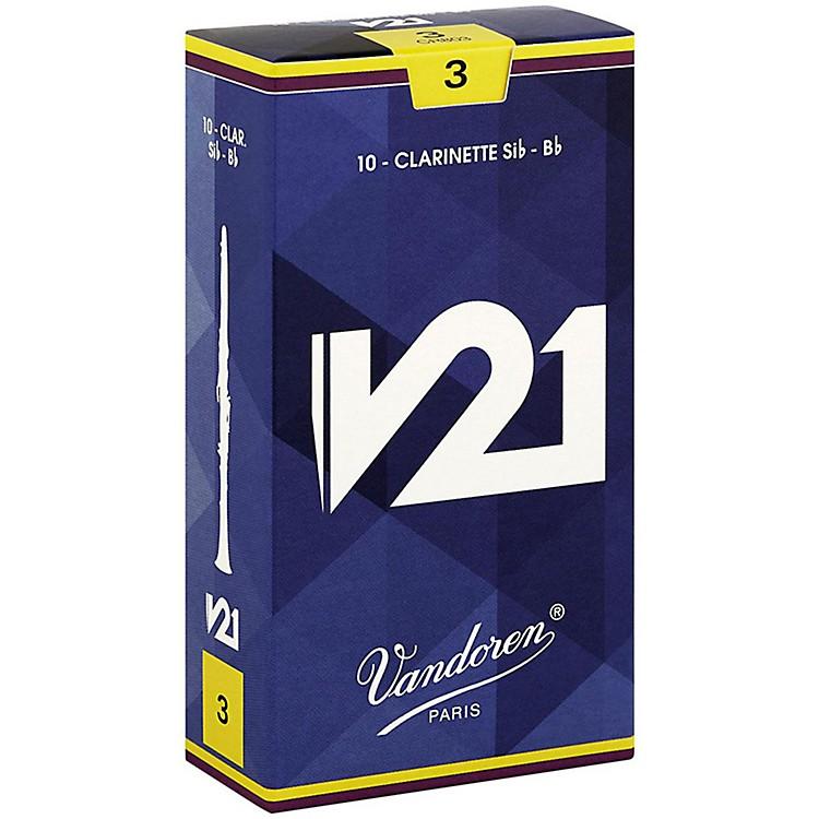 VandorenV21 Bb Clarinet ReedsStrength 3.0 Box of 10
