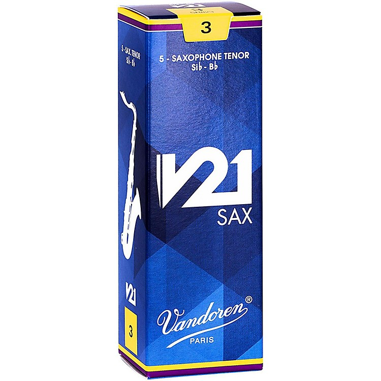 Vandoren V21 Tenor Saxophone Reeds, Box of 5 2.5