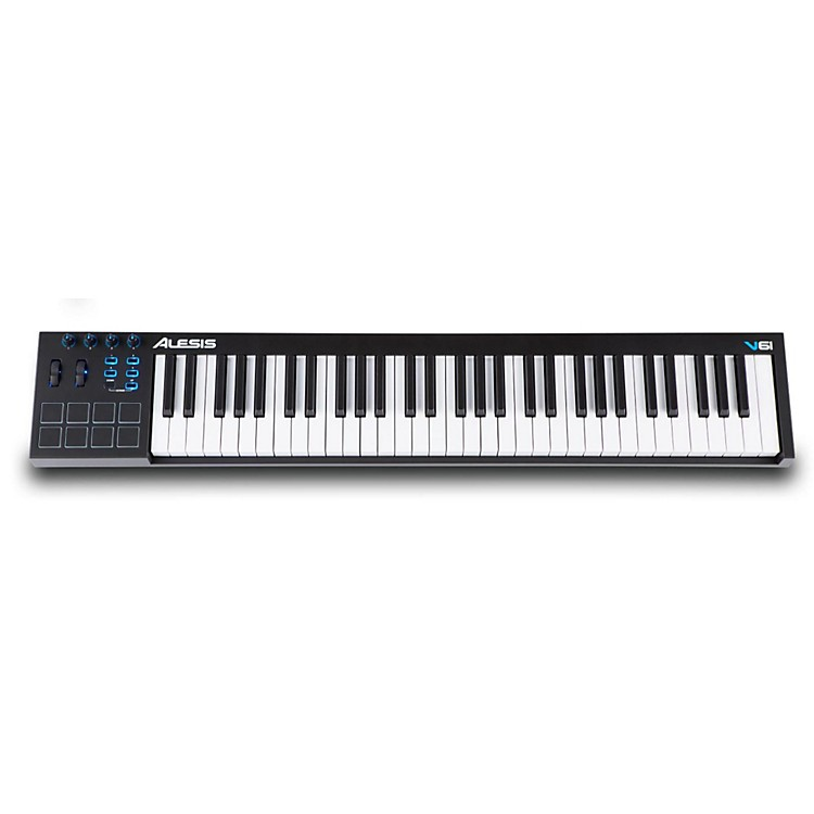 alesis v61 61 key keyboard controller music123. Black Bedroom Furniture Sets. Home Design Ideas