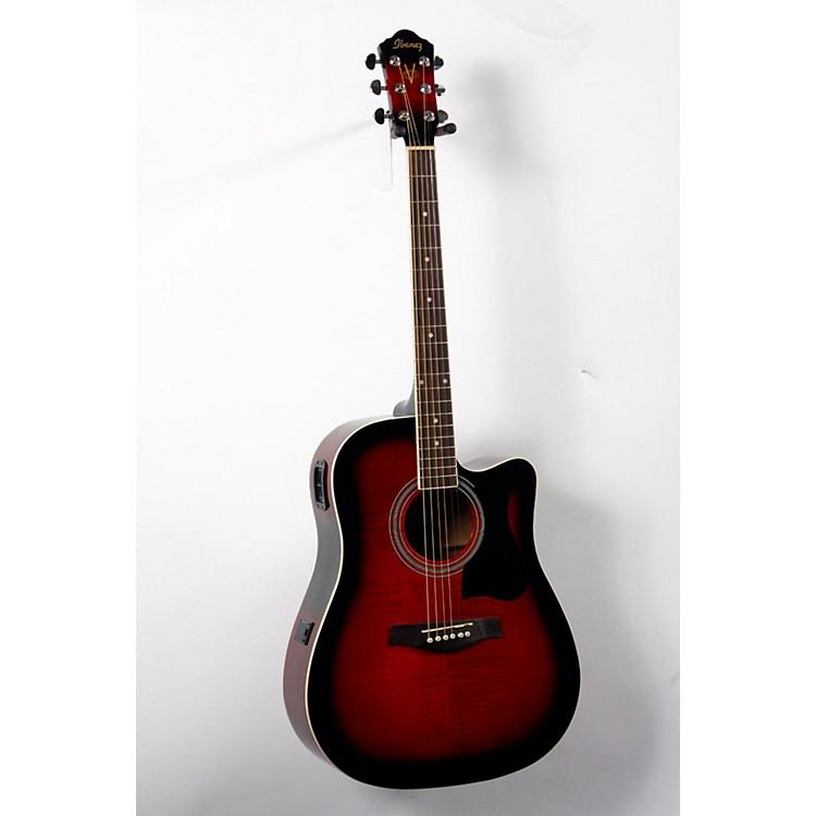 IbanezV70FMCE Dreadnought Cutaway Acoustic-Electric GuitarTransparent Red Sunburst888365723846