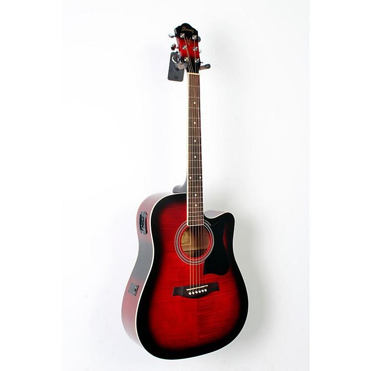 IbanezV70FMCE Dreadnought Cutaway Acoustic-Electric GuitarTransparent Red Sunburst888365796086