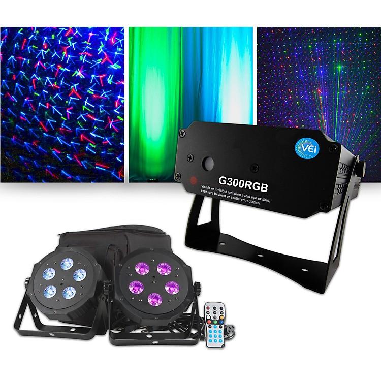 American DJVPAR Pak Lighting Package with VEI RGB Laser