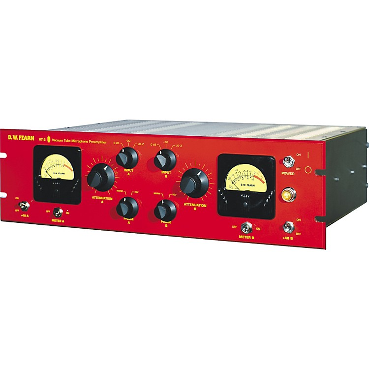 D.W. FearnVT-2 Dual Channel Vacuum Tube Microphone Preamplifier