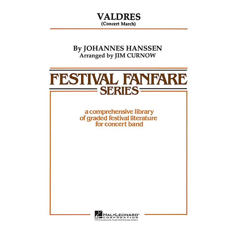Hal LeonardValdres - Young Concert Band Level 3 by James Curnow