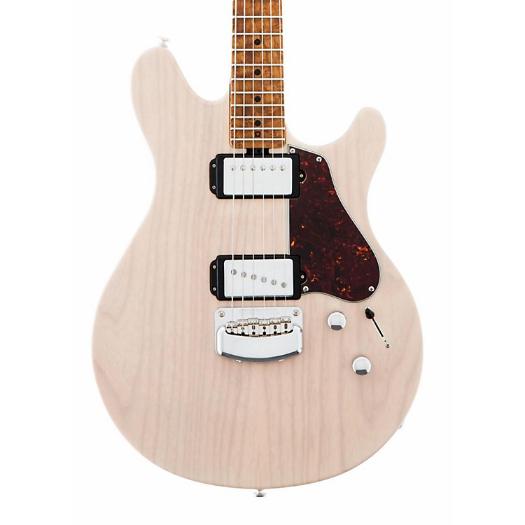 Ernie Ball Music Man Valentine Signature Figured Roasted Maple Neck Electric Guitar Transparent Buttermilk