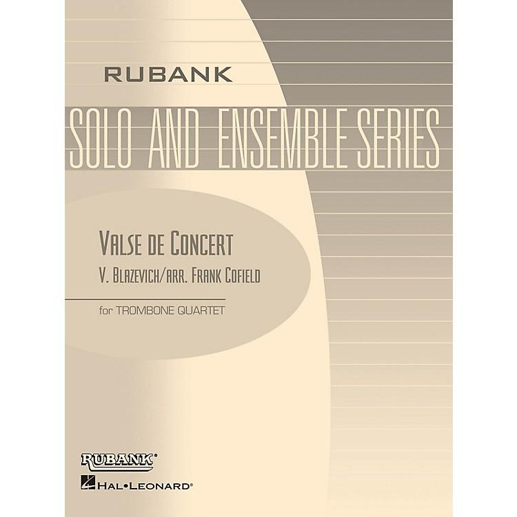 Rubank PublicationsValse de Concert (Trombone Quartet - Grade 3) Rubank Solo/Ensemble Sheet Series Softcover
