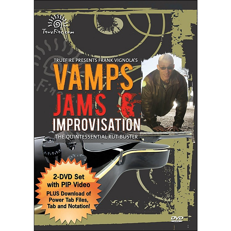 Hal Leonard Vamps, Jams & Improvisation - Instructional Guitar 2-DVD Pack Featuring Frank Vignola