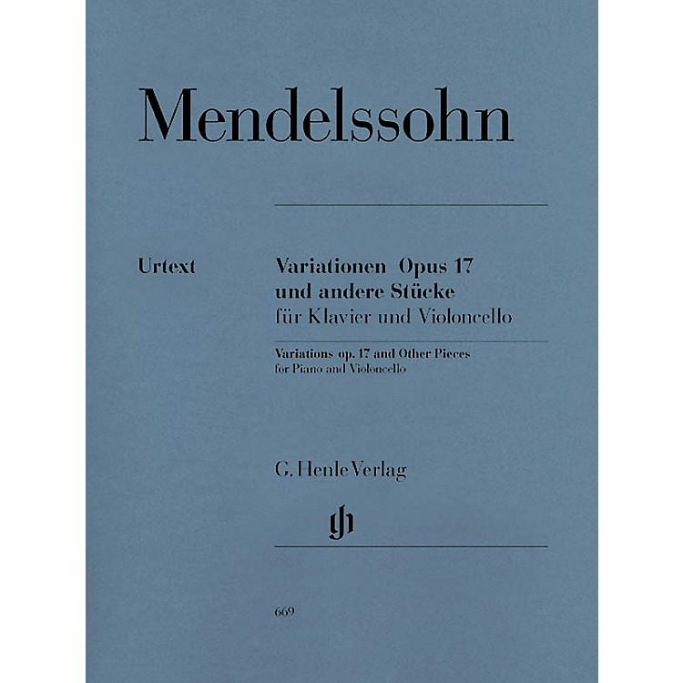 G. Henle Verlag Variations Op. 17 and Other Pieces for Piano and Violoncello Henle Music Folios Series Softcover