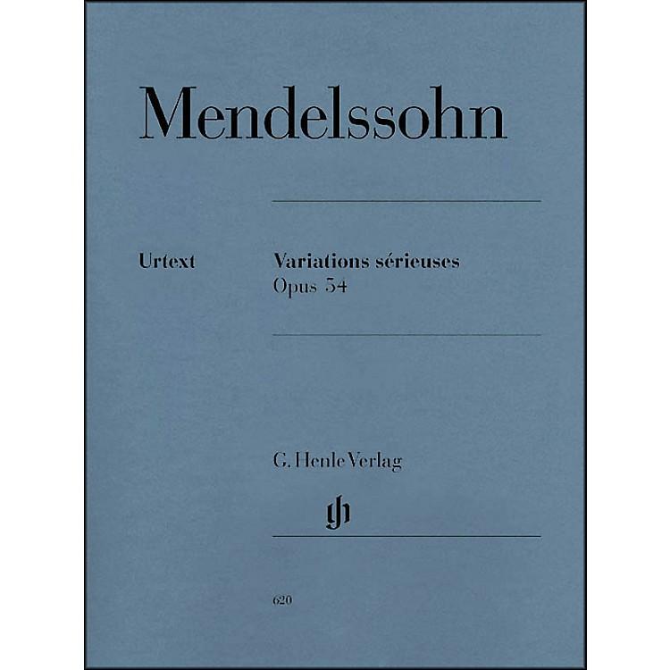 G. Henle VerlagVariations Srieuses, Op. 54 By Mendelssohn