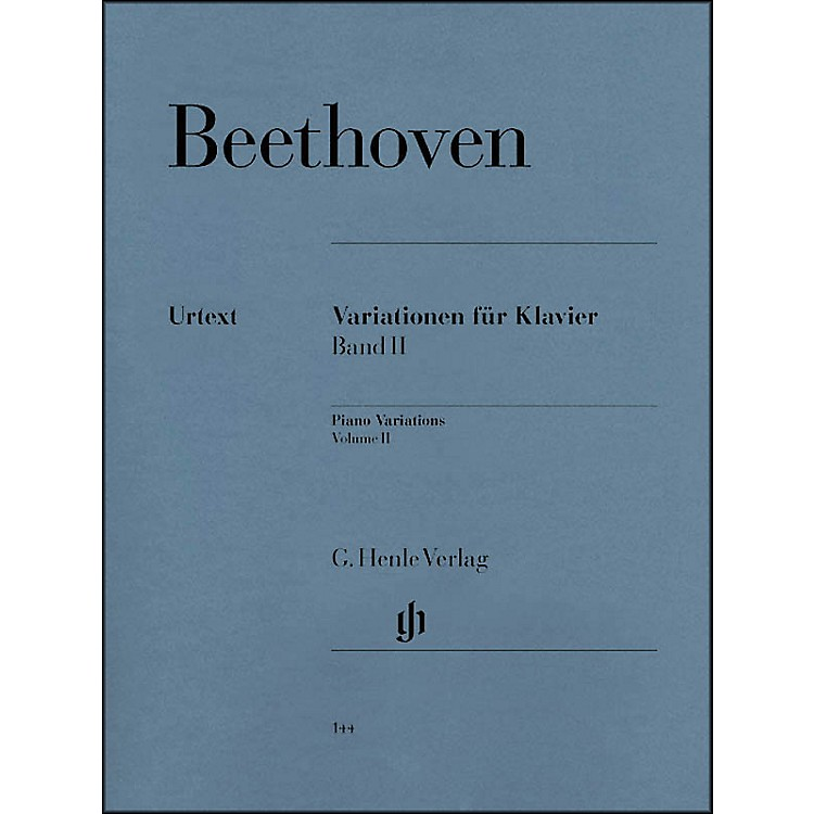 G. Henle Verlag Variations for Piano Volume II By Beethoven