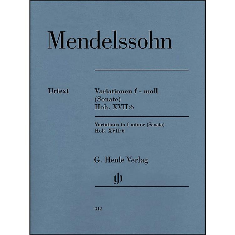 G. Henle VerlagVariations in F Minor (Sonata) Hob. XVII:6 Piano Solo By Haydn