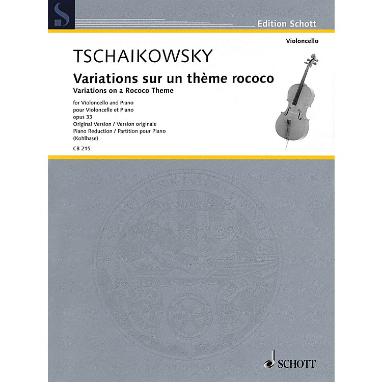 SchottVariations on a Rococo Theme, Op. 33 String Series Softcover Composed by Pyotr Il'yich Tchaikovsky
