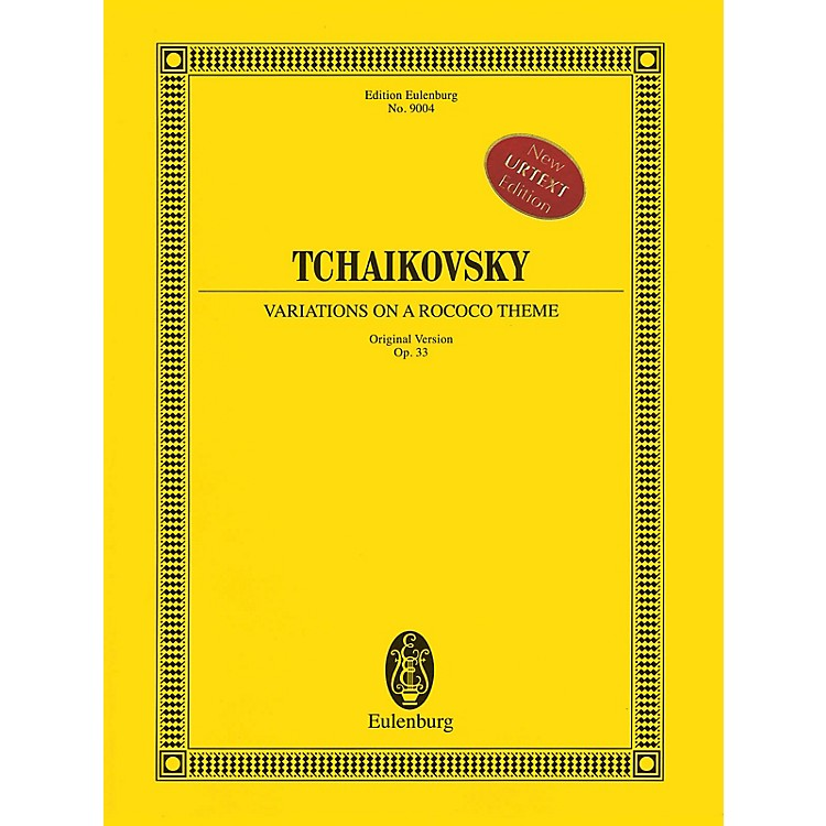 EulenburgVariations on a Rococo Theme (Original Version), Op. 33 Orchestra Softcover by Pyotr Il'yich Tchaikovsky