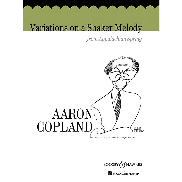 Boosey and HawkesVariations on a Shaker Melody from Appalachian Spring Concert Band Composed by Aaron Copland