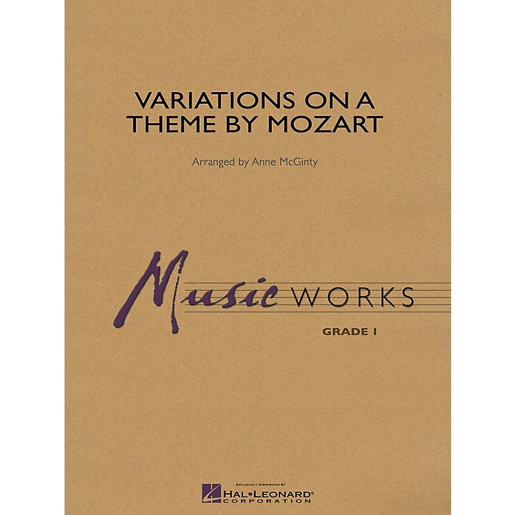 Hal LeonardVariations on a Theme by Mozart Concert Band Level 1 Arranged by Anne McGinty