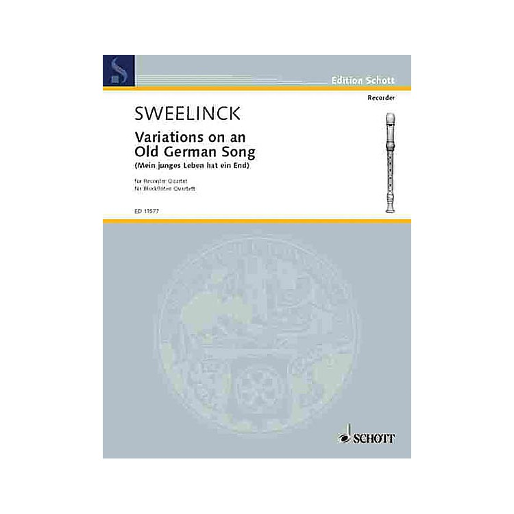 SchottVariations on an Old German Song (Performance Score) Schott Series by Jan Pieterszoon Sweelinck