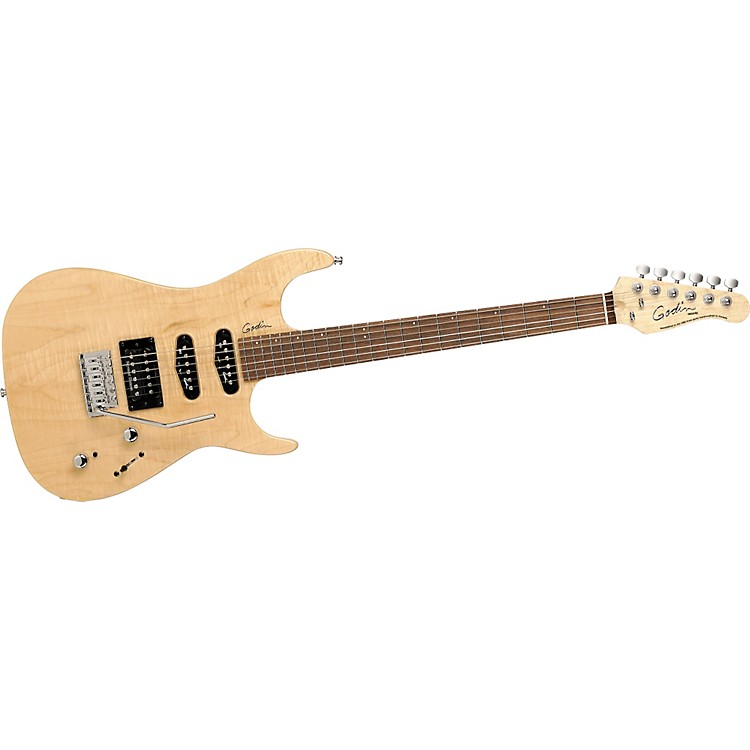 Godin Velocity Electric Guitar High Gloss Natural Flame Rosewood Fretboard
