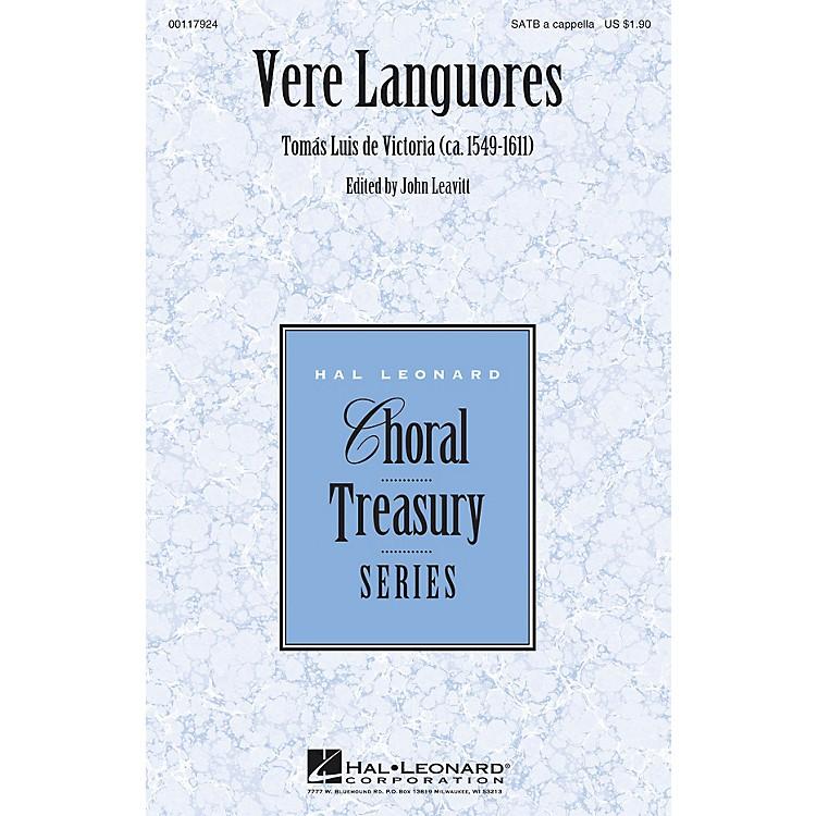 Hal LeonardVere Languores SATB a cappella composed by Tomas Luis de Victoria