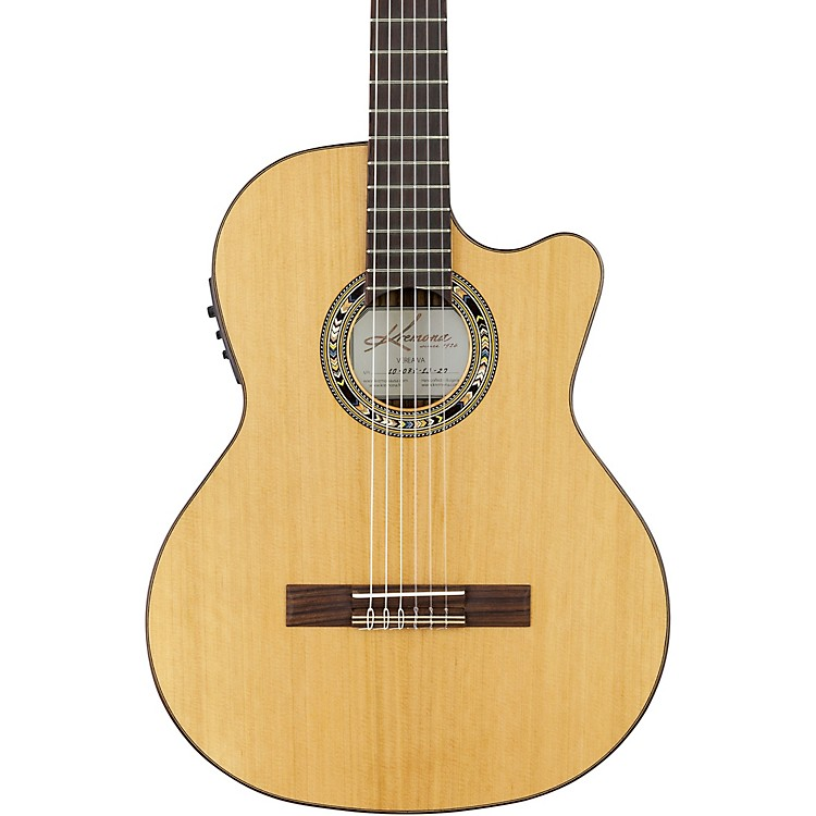 Kremona Verea Cutaway Acoustic-Electric Nylon Guitar Natural