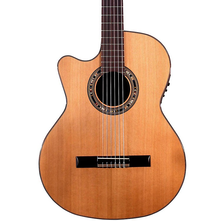 Kremona Verea Left-Handed Classical Acoustic-Electric Guitar Natural