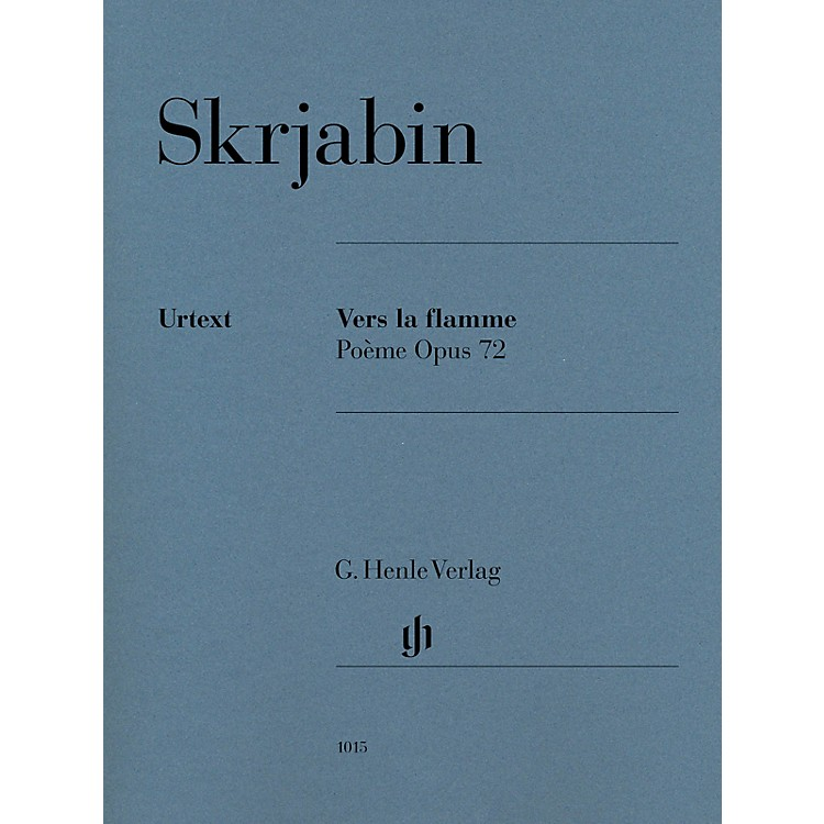 G. Henle VerlagVers la flamme (Poème), Op. 72 Henle Music Folios Softcover by Scriabin Edited by Valentina Rubcova