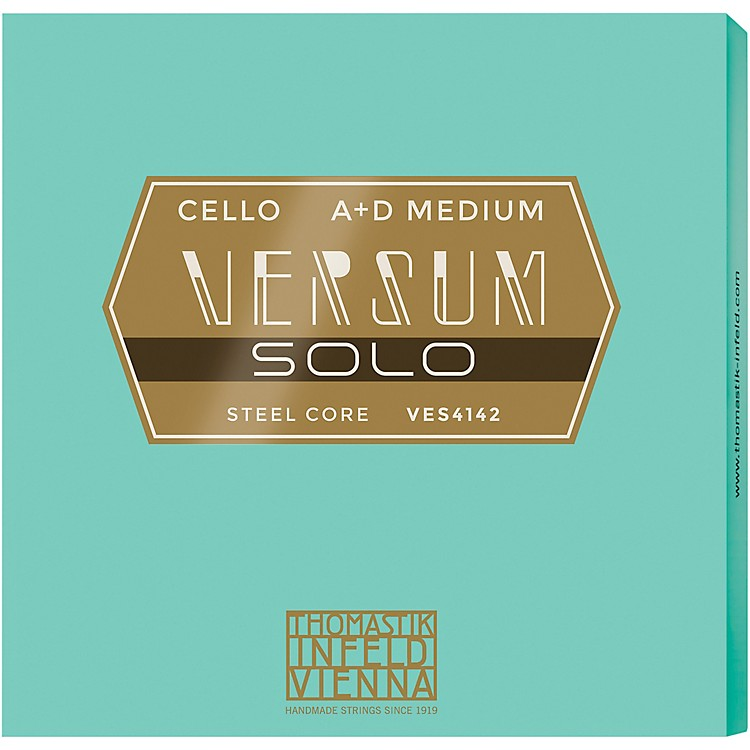 ThomastikVersum Solo A and D Cello String Combo Pack4/4 Size, Medium