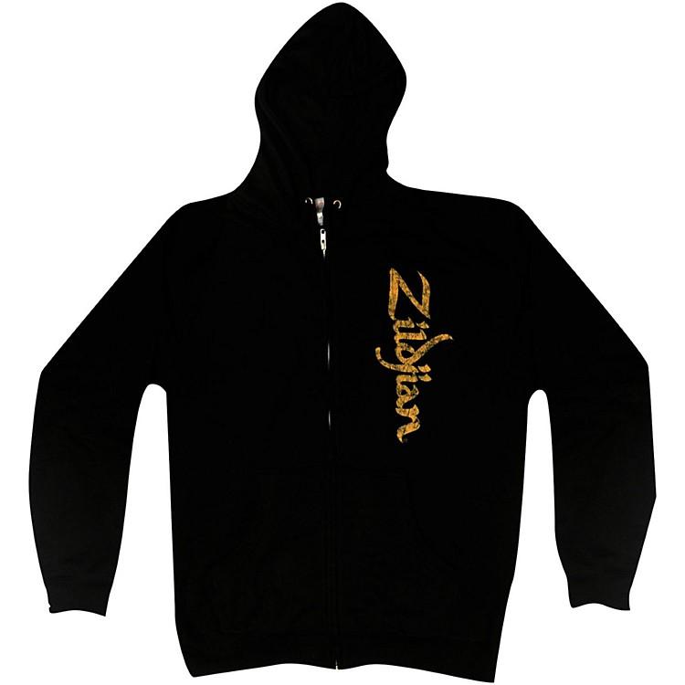 ZildjianVertical Logo Zip HoodieBlackLarge