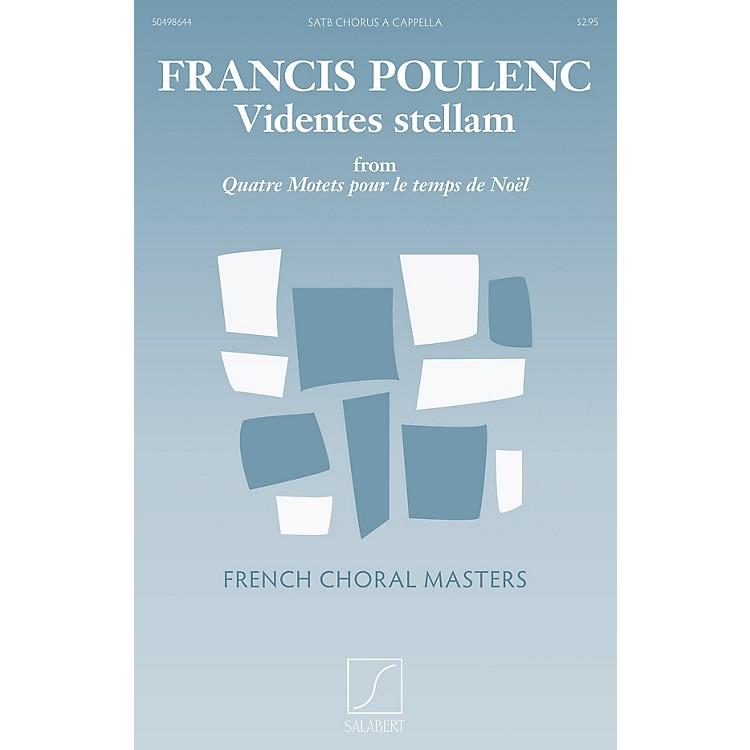 SalabertVidentes stellam (from Quatre motets pour le temps de Noël) SATB a cappella Composed by Francis Poulenc