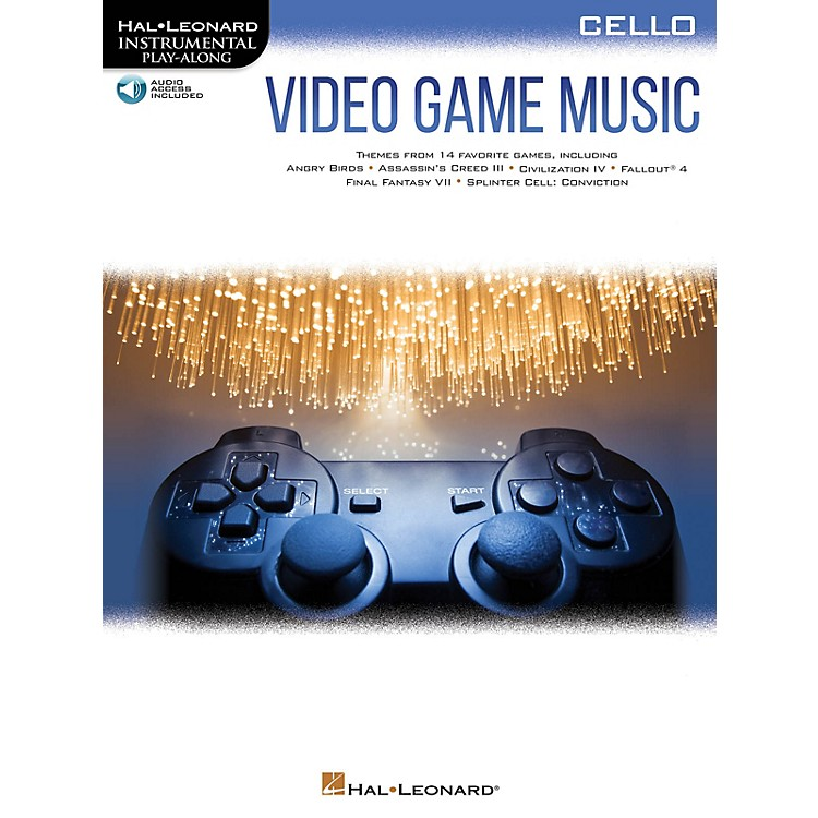 Hal LeonardVideo Game Music for Cello Instrumental Play-Along Book/Audio Online