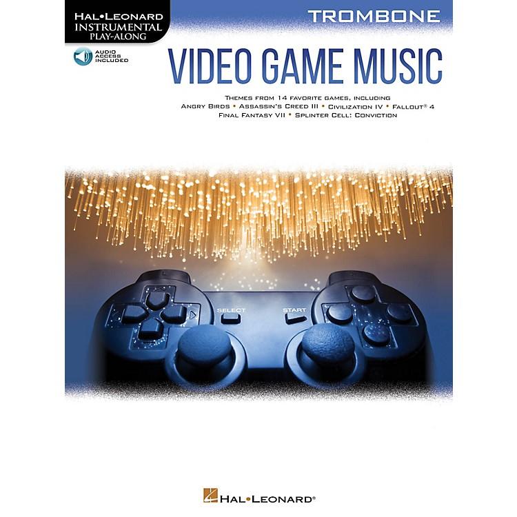 Hal LeonardVideo Game Music for Trombone Instrumental Play-Along Book/Audio Online