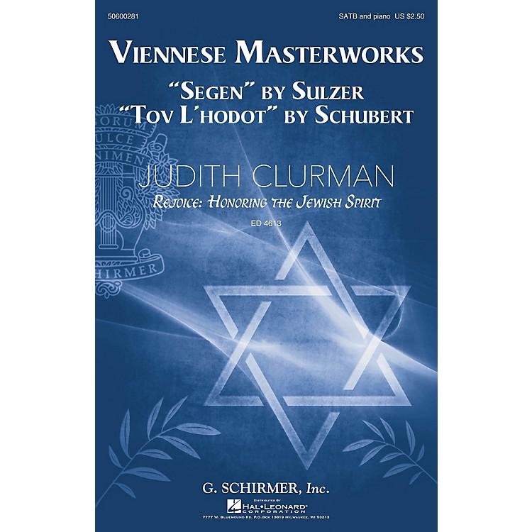 G. SchirmerViennese Masterworks (Judith Clurman Rejoice: Honoring the Jewish Spirit Series) SATB by Franz Schubert