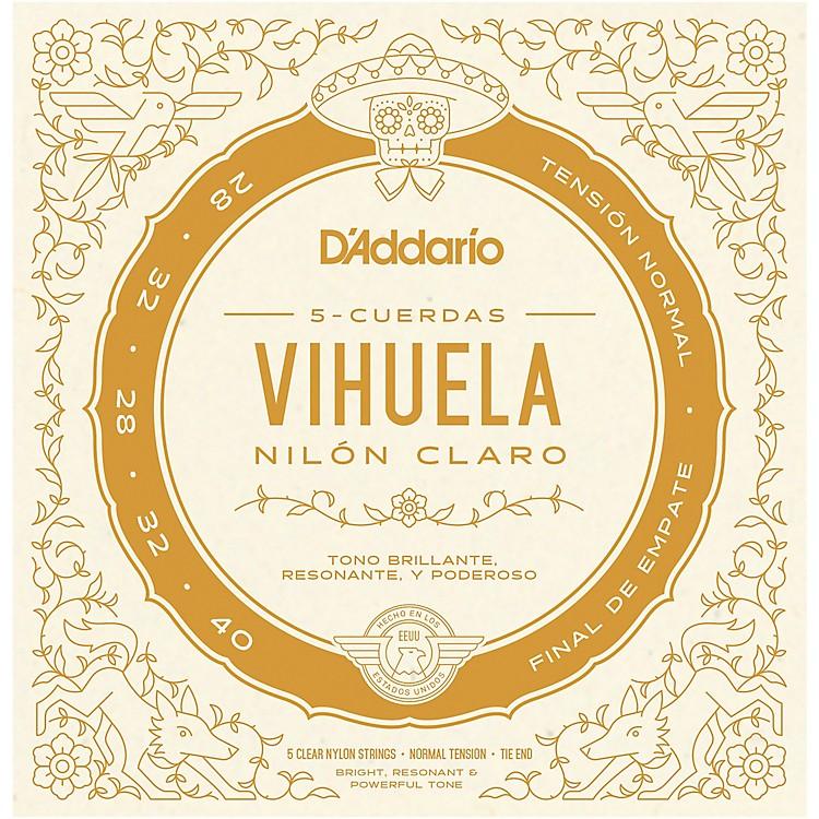 D'AddarioVihuela 5 String Set, Clear Nylon, Normal Tension