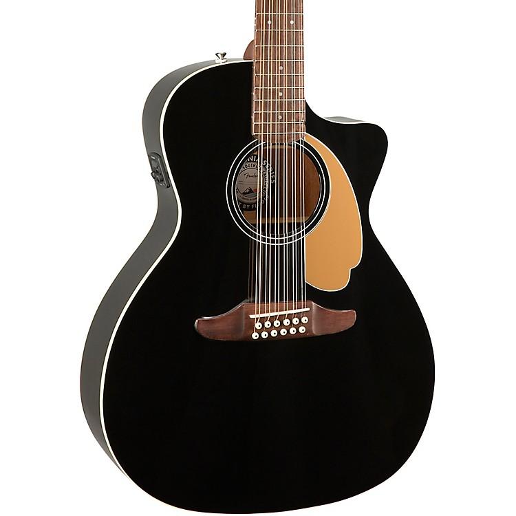 fender villager 12 string v3 acoustic electric guitar jetty black music123. Black Bedroom Furniture Sets. Home Design Ideas
