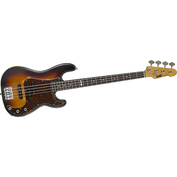 ESPVintage-4 Bass GuitarDistressed 3-Color BurstRosewood Fretboard