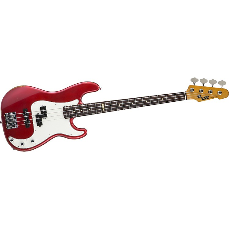 ESPVintage-4 Bass GuitarVintage Candy Apple Red