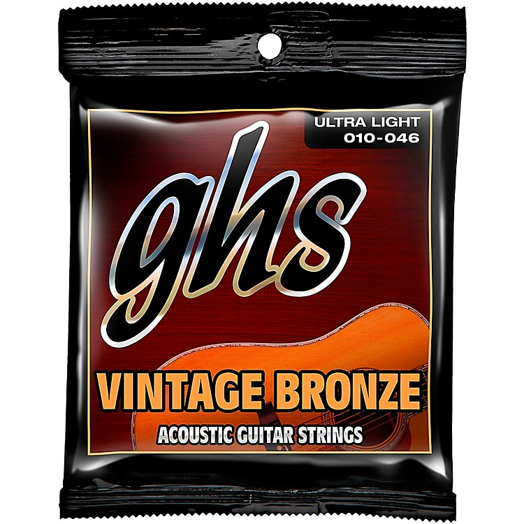 GHSVintage Bronze 85/15 Acoustic Strings Ultra Light
