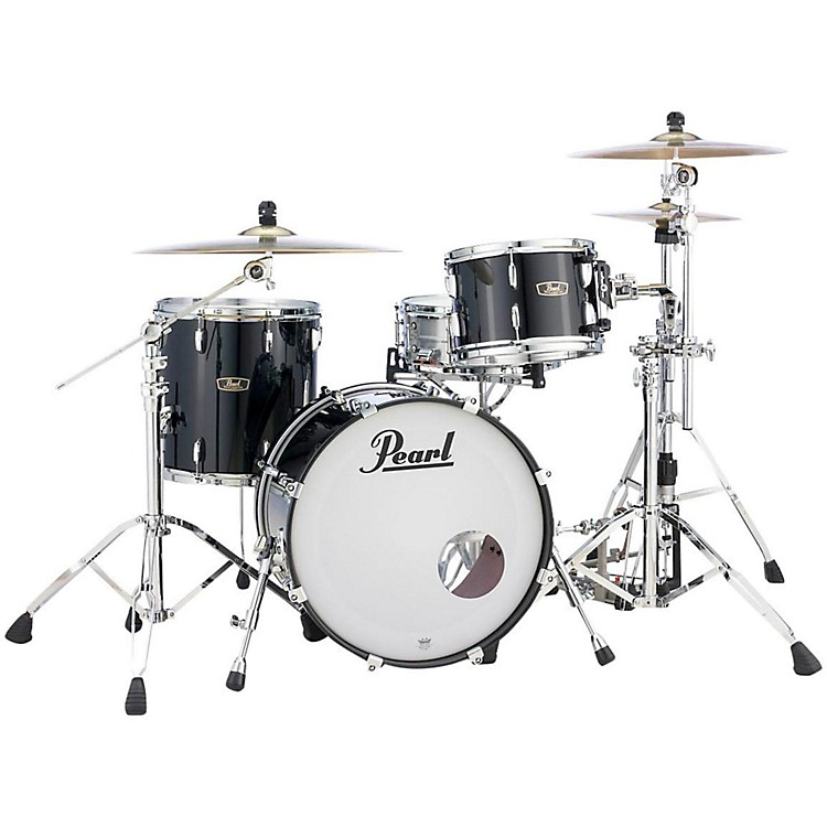 Pearl Vintage Hybrid Wood Fiberglass Series 3-Piece Shell Pack with 20 in. Bass Drum Platinum Mist