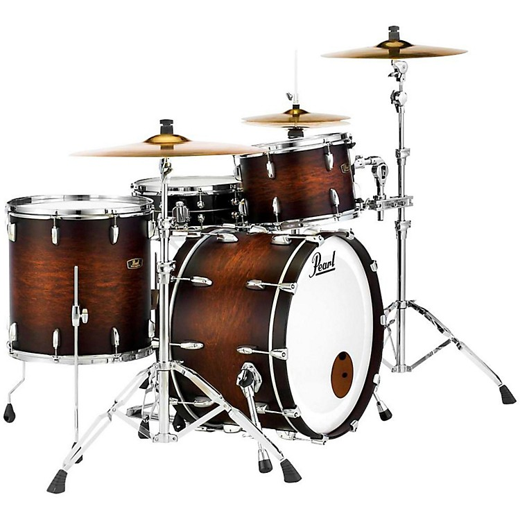 Pearl Vintage Hybrid Wood Fiberglass Series 3-piece Shell Pack Satin Cocoa Burst