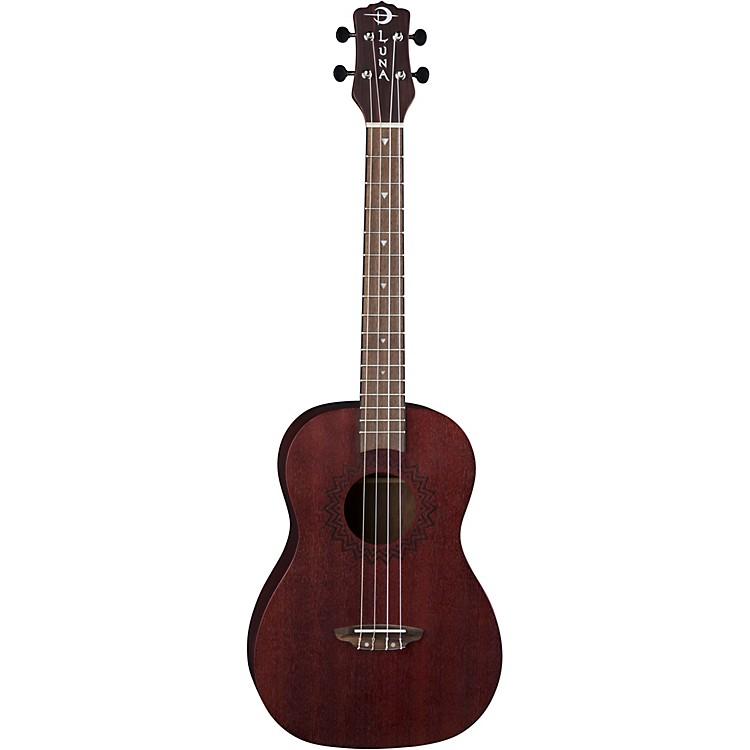Luna GuitarsVintage Mahogany Baritone Ukulele in Red SatinSatin Red