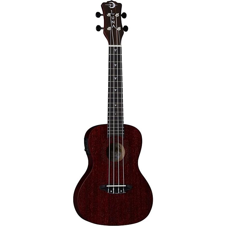 Luna GuitarsVintage Mahogany Concert Cutaway Acoustic-Electric UkuleleSatin Red