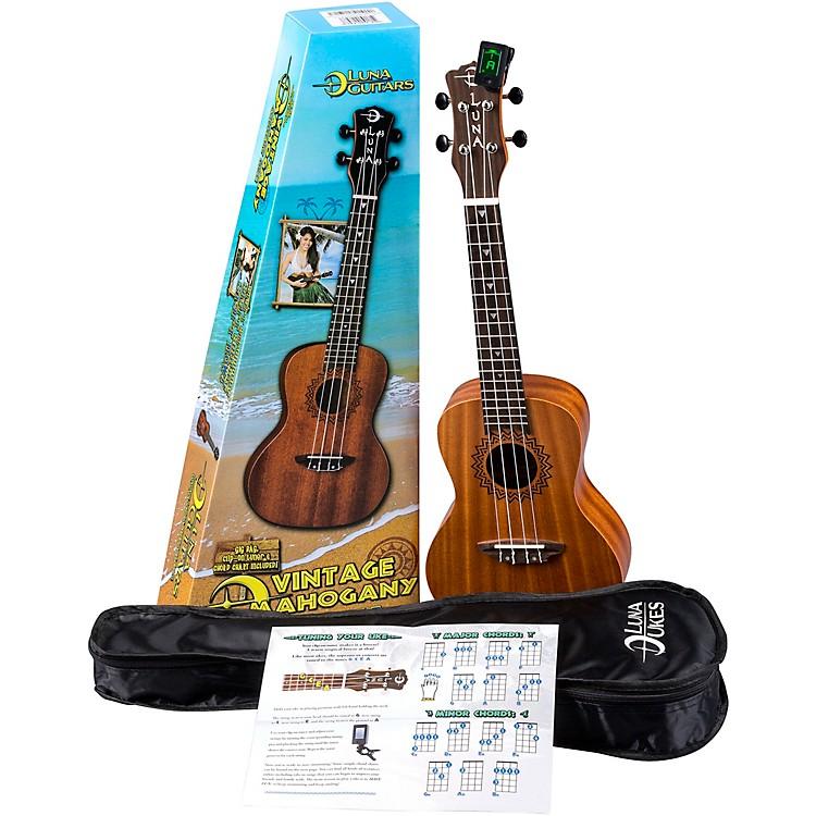 Luna GuitarsVintage Mahogany Concert Ukulele PackSatin Natural