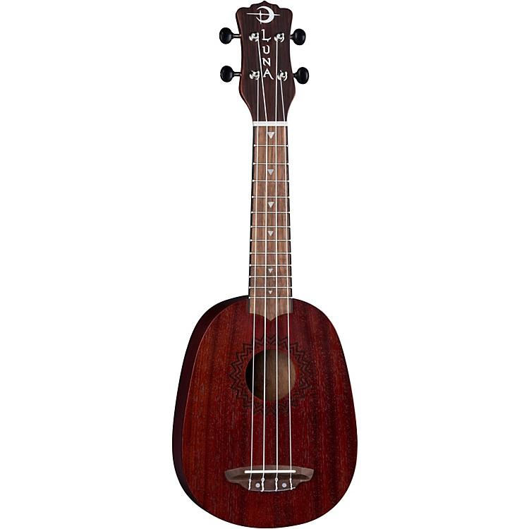 Luna GuitarsVintage Mahogany Pineapple UkuleleSatin Red