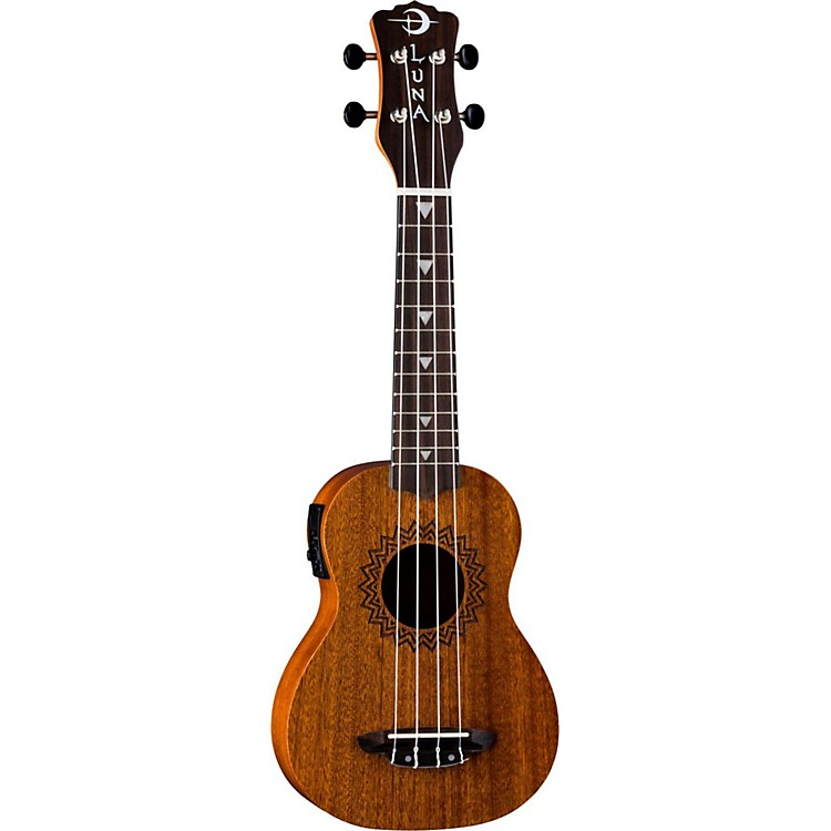 Luna Guitars Vintage Mahogany Soprano Acoustic-Electric Ukulele Satin Natural
