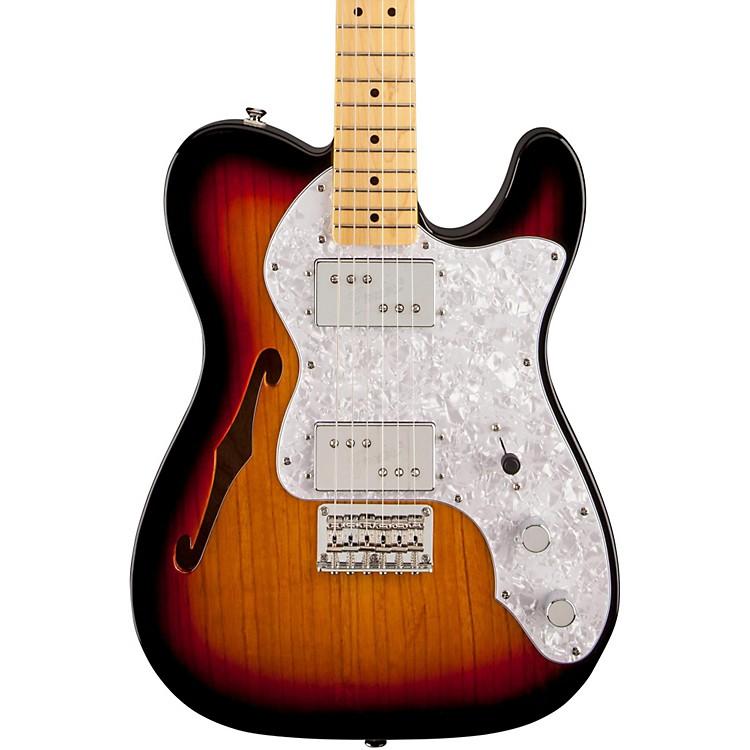 SquierVintage Modified 72 Telecaster Thinline Maple Neck Electric Guitar3-Color Sunburst