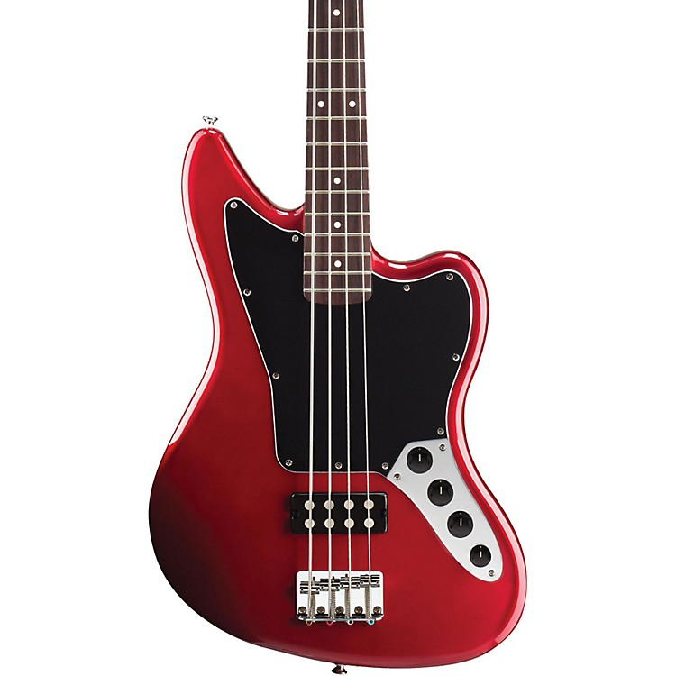 Squier Vintage Modified Jaguar Electric Bass Guitar Special Humbucker Candy Apple Red