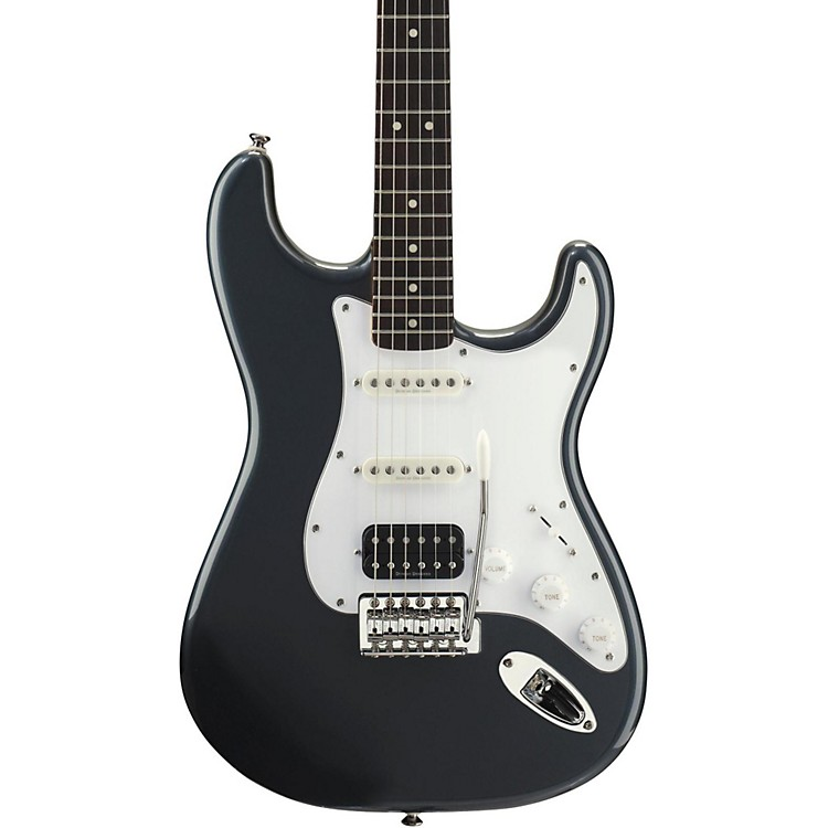 Squier Vintage Modified Stratocaster HSS Electric Guitar Charcoal Frost Metallic Rosewood Fretboard